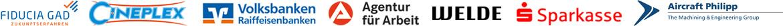 mv lichtwerbesysteme Kunden und Tätigkeiten u.a. für Fiducia & GAD IT AG, Cineplex Kino, Sparkasse, Volksbanken Raiffeisenbanken, Agentur für Arbeit, Brauerei Welde, Aircraft Philipp und viele mehr.