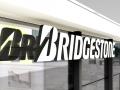 LED-Vollacrylbuchstaben - Frontleuchter (Zargen lichtdicht, ablackiert): Bridgestone