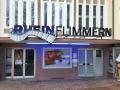 Profilbuchstaben (Sonder-Profil 12) mit LED-Ausleuchtung: Rheinflimmern Kino in Rheinfelden (bei Lörrach)