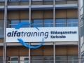 Profilbuchstaben mit LED-Ausleuchtung: Alfatraining Karlsruhe
