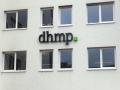 Profilbuchstaben (Schattenschrift) mit LED-Ausleuchtung: DHMP Karlsruhe