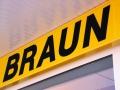 Transparentkasten mit Winkelrahmen und LED Flächenausleuchtung: Türen & Fenster Braun Rastatt