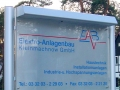 Lichtfluter/Schild mit digital bedruckter Hochleistungsfolie: EAB