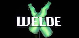Lichtsysteme, Lichtwerbung, Leuchtreklame, Neon- und LED-Lichtwerbeanlagen. Hier im Beispiel die Welde Bier Neonreklame/Sonderanlage für Weldebräu GmbH & CO. KG in Plankstadt/Schwetzingen