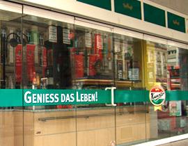 Schaufensterbeschriftung, Schaufensterbeklebung, Glas-Dekorfolien und Klebefolien