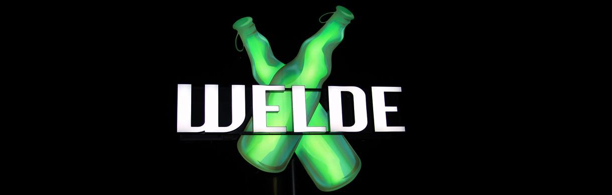 mvlichtwerbesysteme in Karlsruhe (Linkenheim) plant, gestaltet und produziert Ihre Neonwerbung, Neonlichtwerbeanlagen, Neonschilder, Neonreklame, Neontafeln, Neonprofile, Neonprofilbuchstaben, Neon-Einzelbuchstaben, Neonschriftzüge und Neonleuchtreklame wie. z.B. die Neon-Sonderanlage der Brauereri Welde..